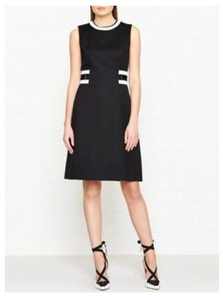 Hobbs Jacquie Tipped Dress - Black/Ivory
