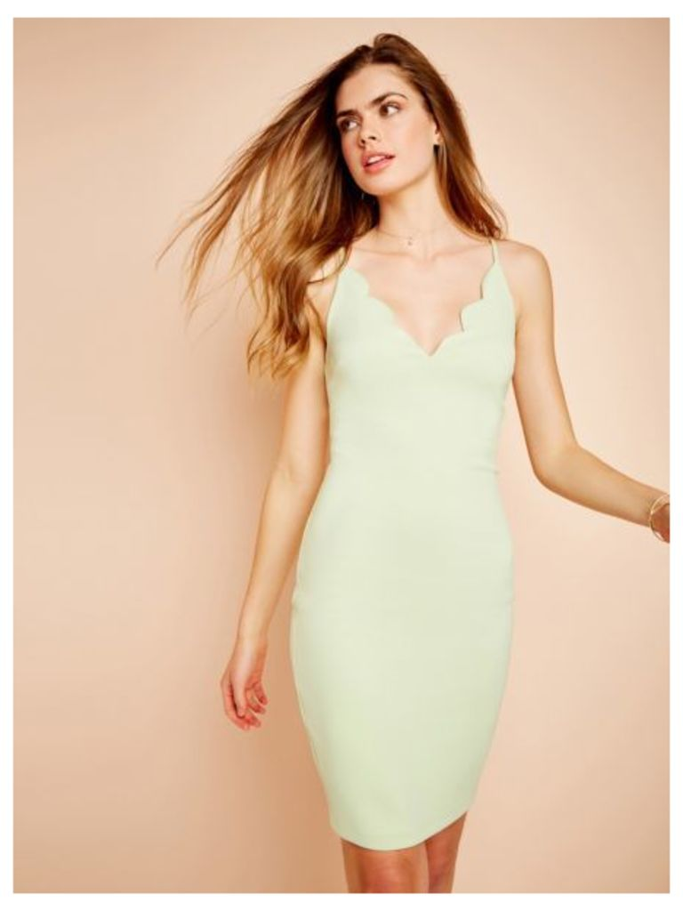 Guess Dress With Uneven Neckline