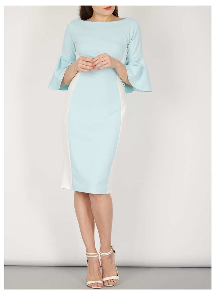 Womens *Feverfish Blue Contrast Dress- Blue