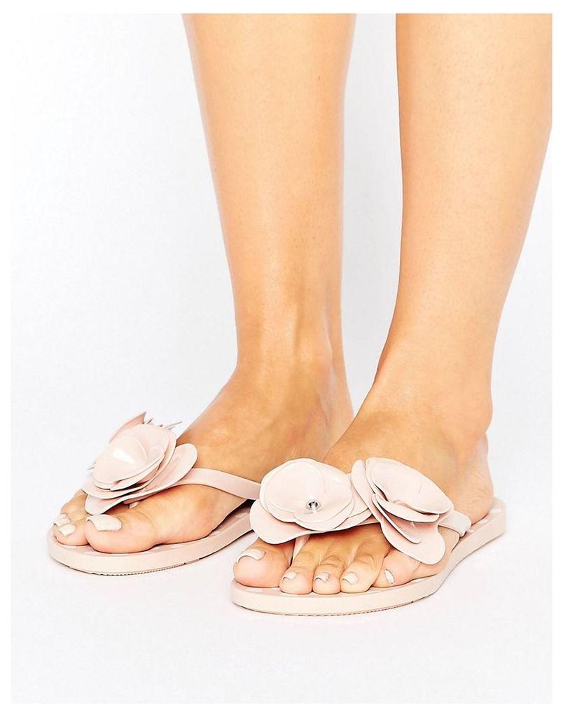 Zaxy Fresh Bloom Flip Flop - Nude
