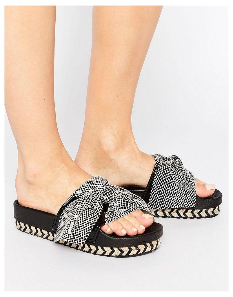 SixtySeven Beige Bow Slide Flat Sandals - Beige