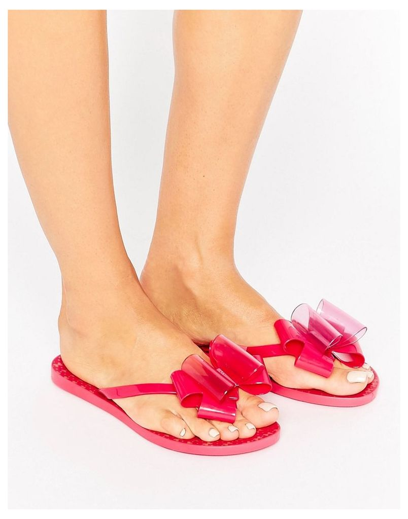 Zaxy Link Twin Bow Flip Flop - Pink
