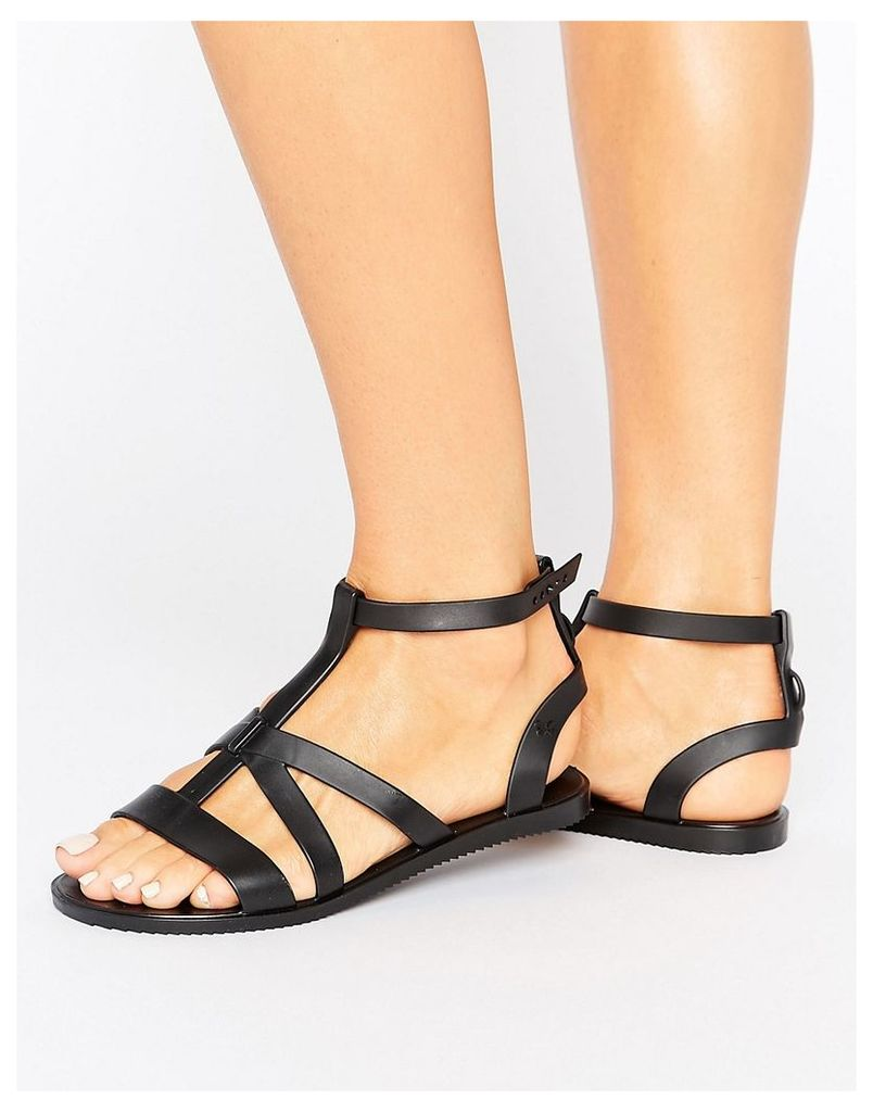 Zaxy Dual Gladiator Sandal - Black