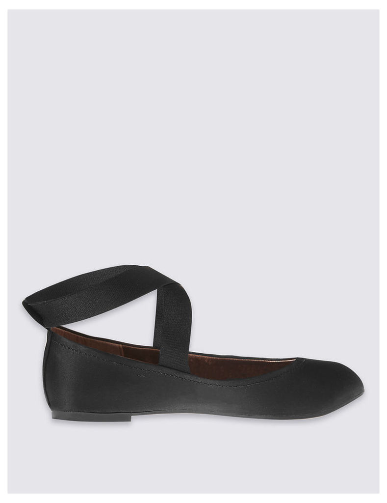 M&S Collection Elasticated Pump Shoes with Insolia Flex