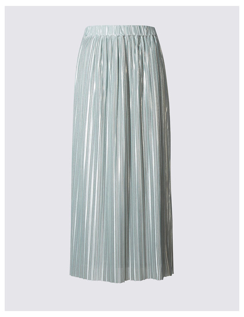 M&S Collection Plisse Pleated Maxi Skirt