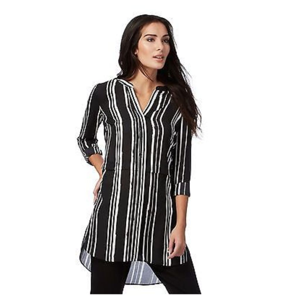 The Collection Womens Black Striped Print Shirt From Debenhams