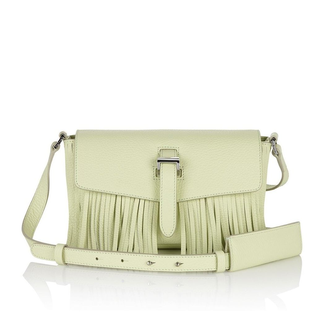 Maisie Cross Body Bag Lime Fringing