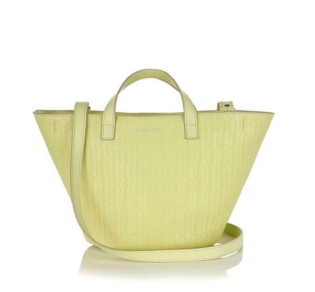 Rosalia Mini Cross Body Bag Lime Woven