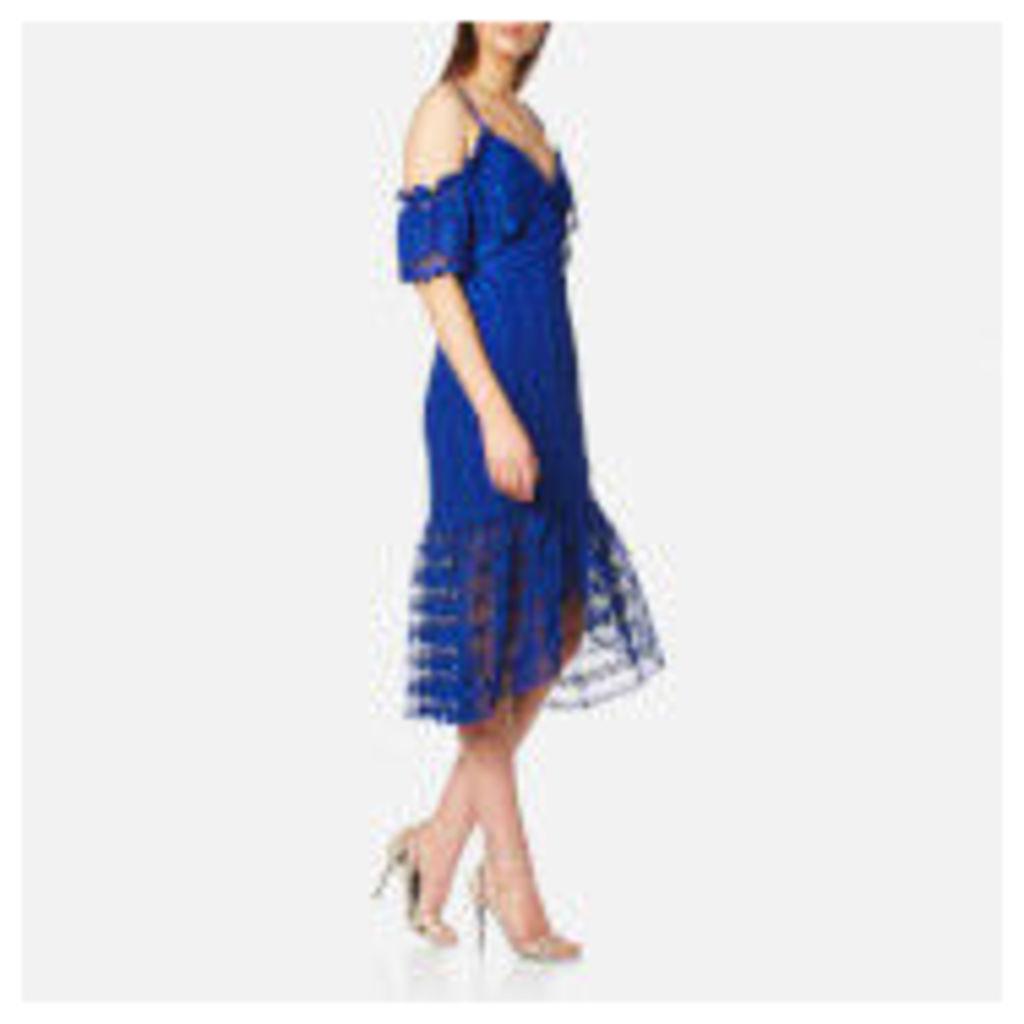 Three Floor Women's Enfold Dress - Blue