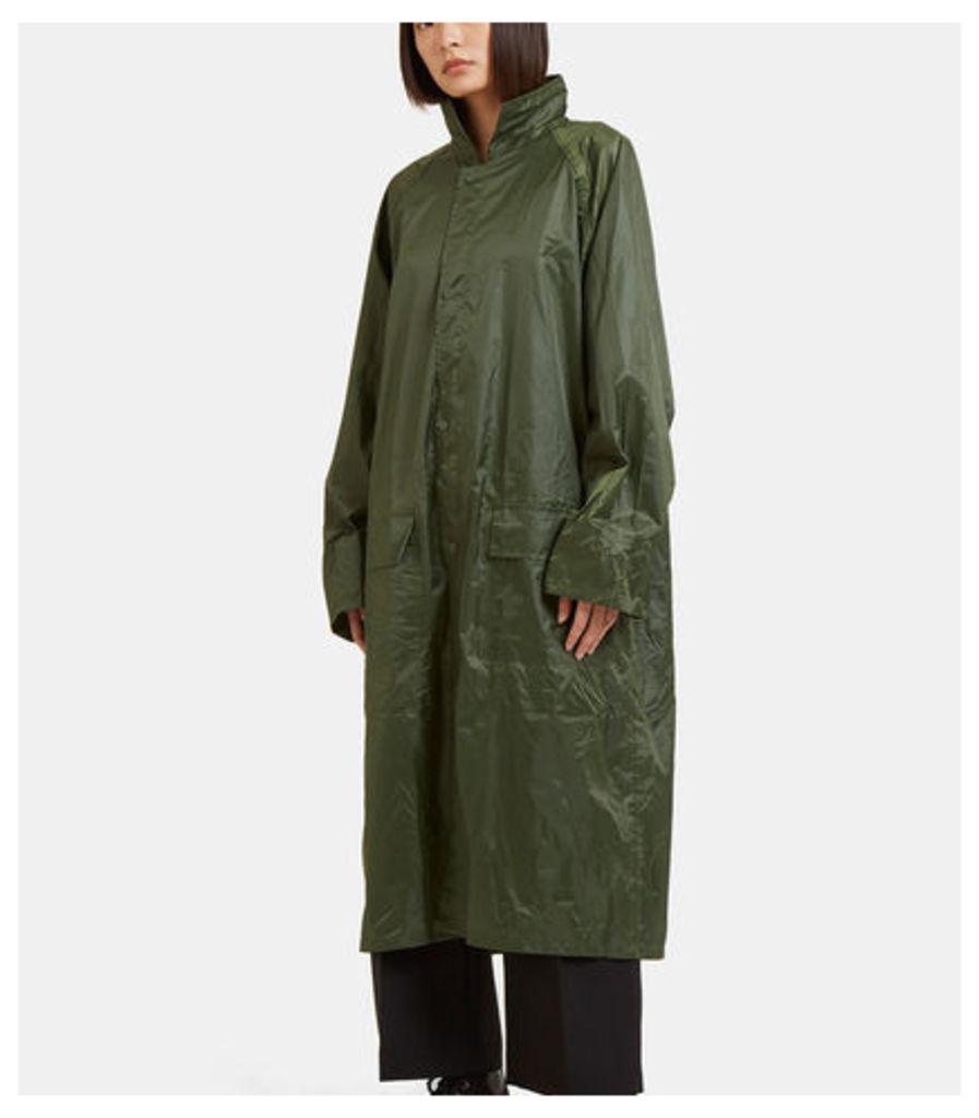 Oversized Large Logo Embroidered Raincoat