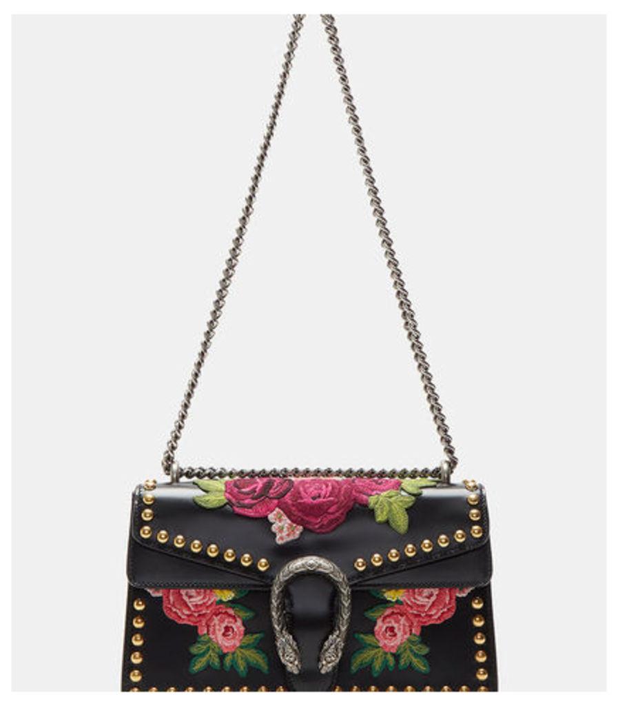 Dionysus Floral Embroidered Shoulder Bag