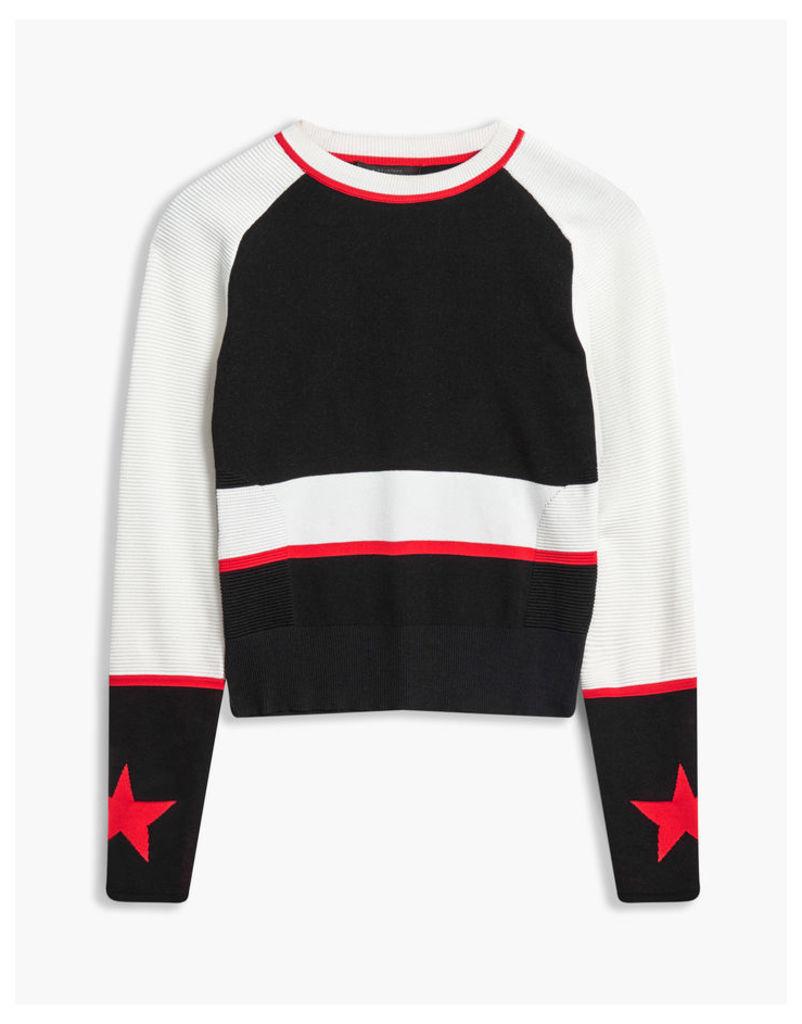 Belstaff Sinead Crewneck Jumper White/Red/Black