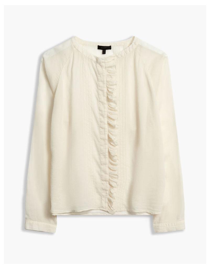Belstaff Elm Ruffle Shirt Off White