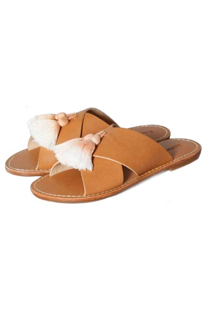 Tassel Criss Cross Sandal Vachetta