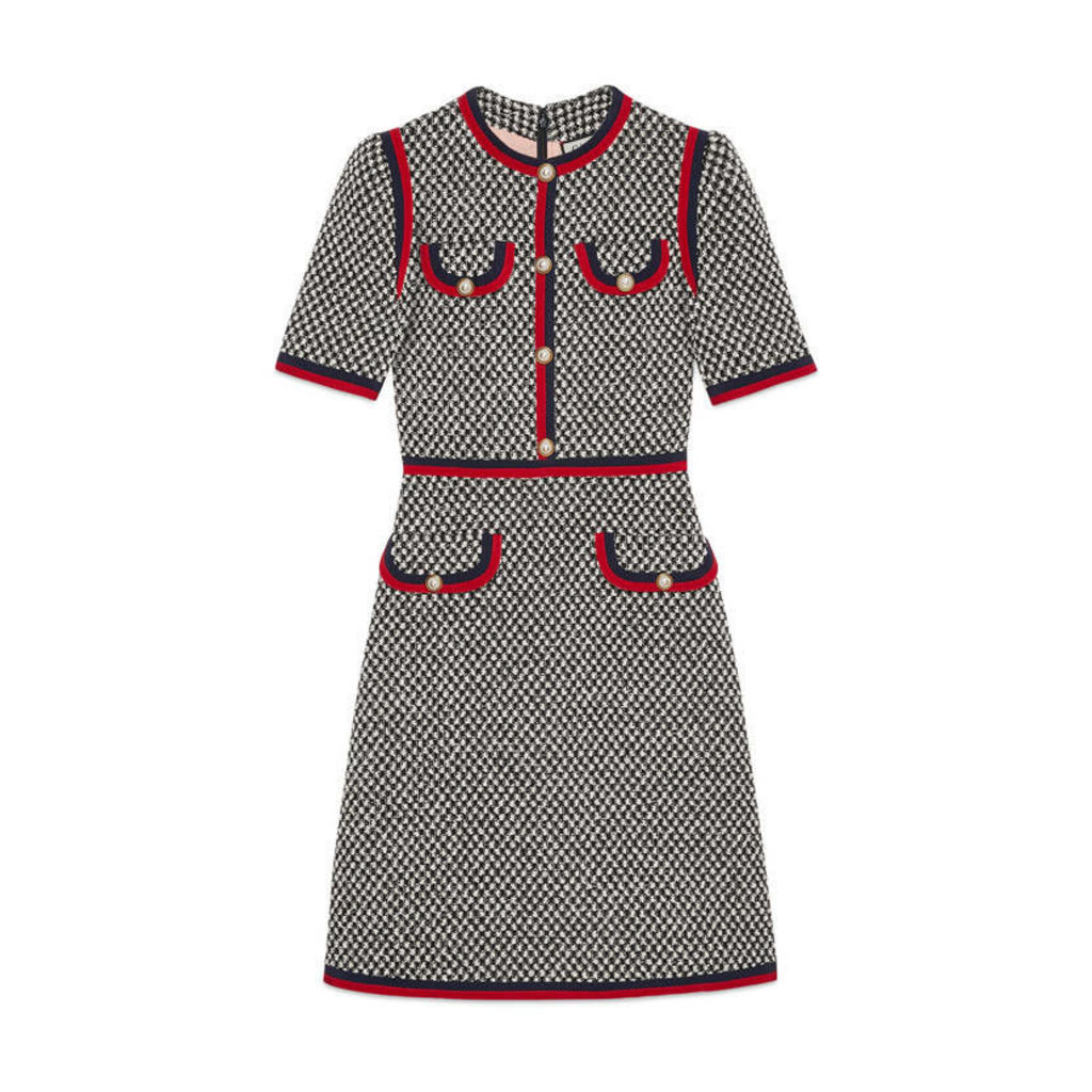 Tweed dress with Web