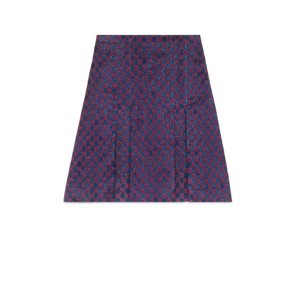 GG lurex pleated mini skirt