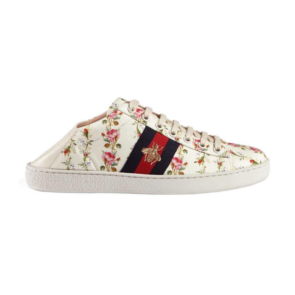 Ace rose print low-top sneaker