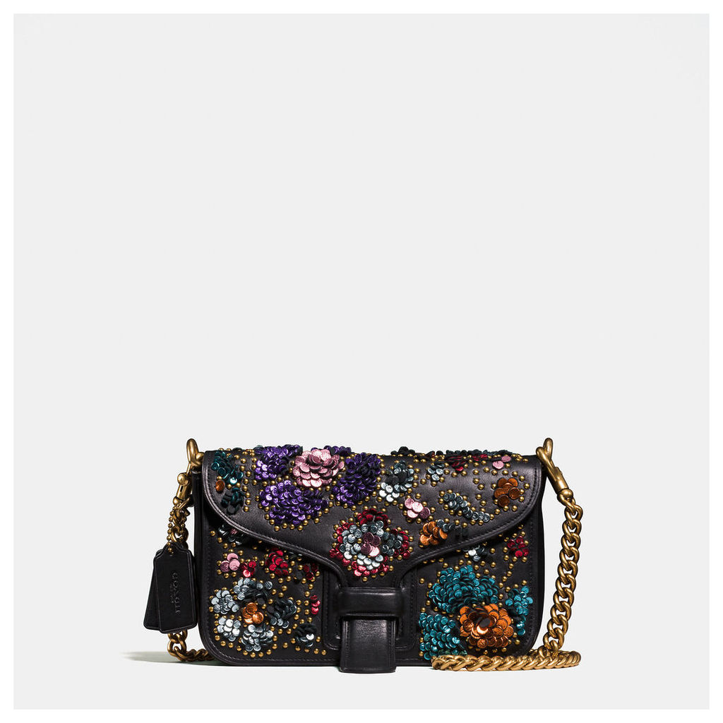 Coach Courier Crossbody In Glovetanned Leather With Leather Sequins