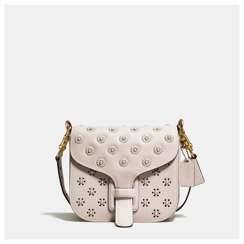 Coach Courier Bag In Glovetanned Leather With Whipstitch Eyelet And Snake Detail