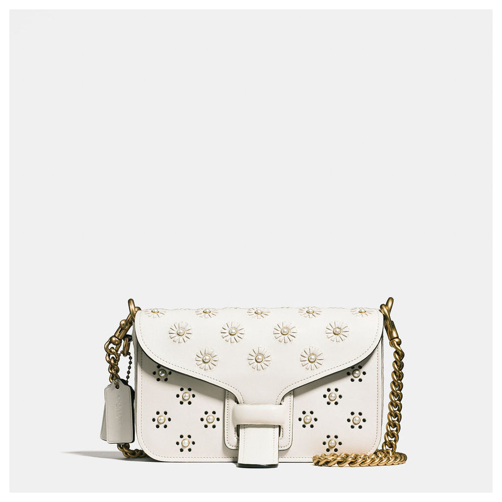 Coach Courier Crossbody In Glovetanned Leather With Whipstitch Eyelet And Snake Detail