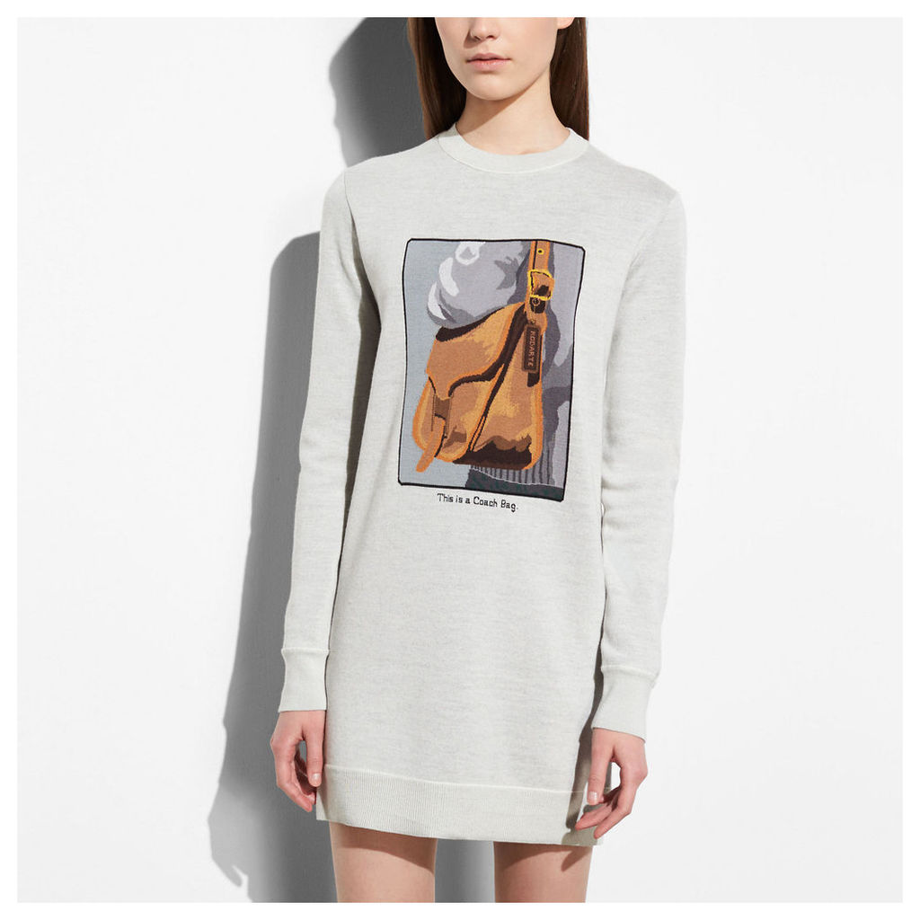 Coach Sweater Dress With Archive Intarsia