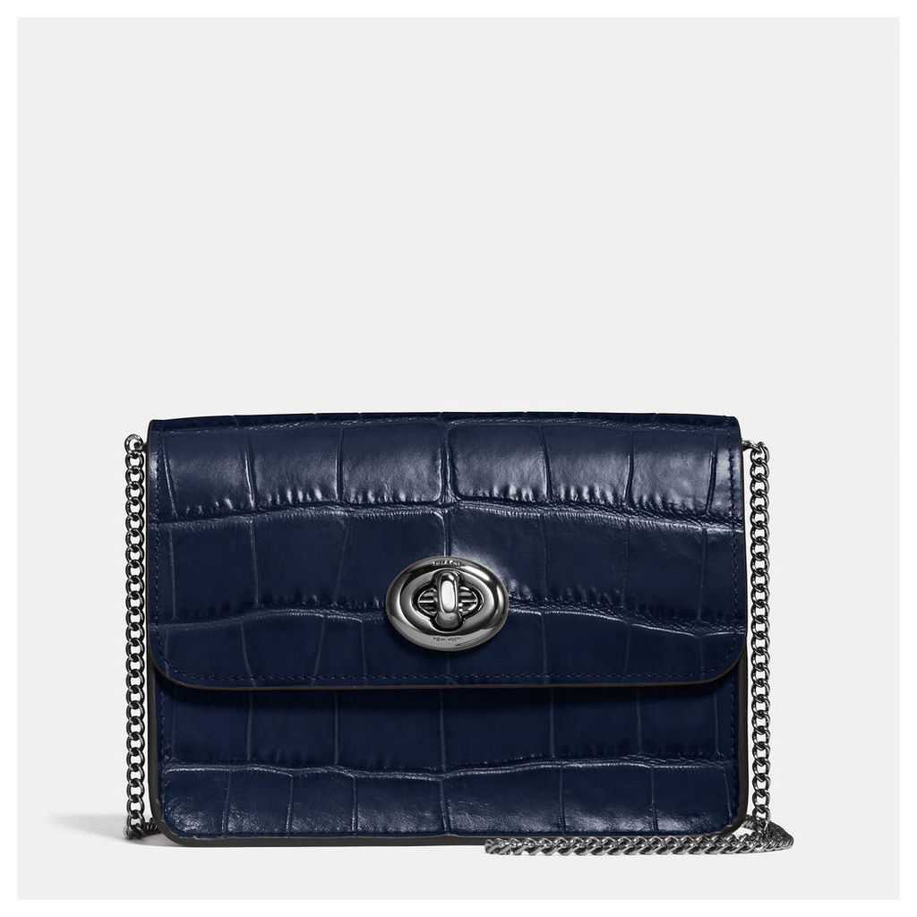 Coach Bowery Crossbody In Croc Embossed Leather