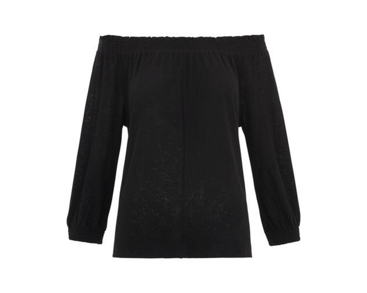 Easy Bardot Linen Top