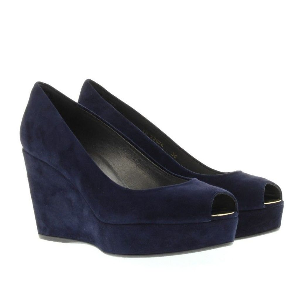 Stuart Weitzman Pumps - Anna Wedge Nice Blue Suede - in blue - Pumps for ladies
