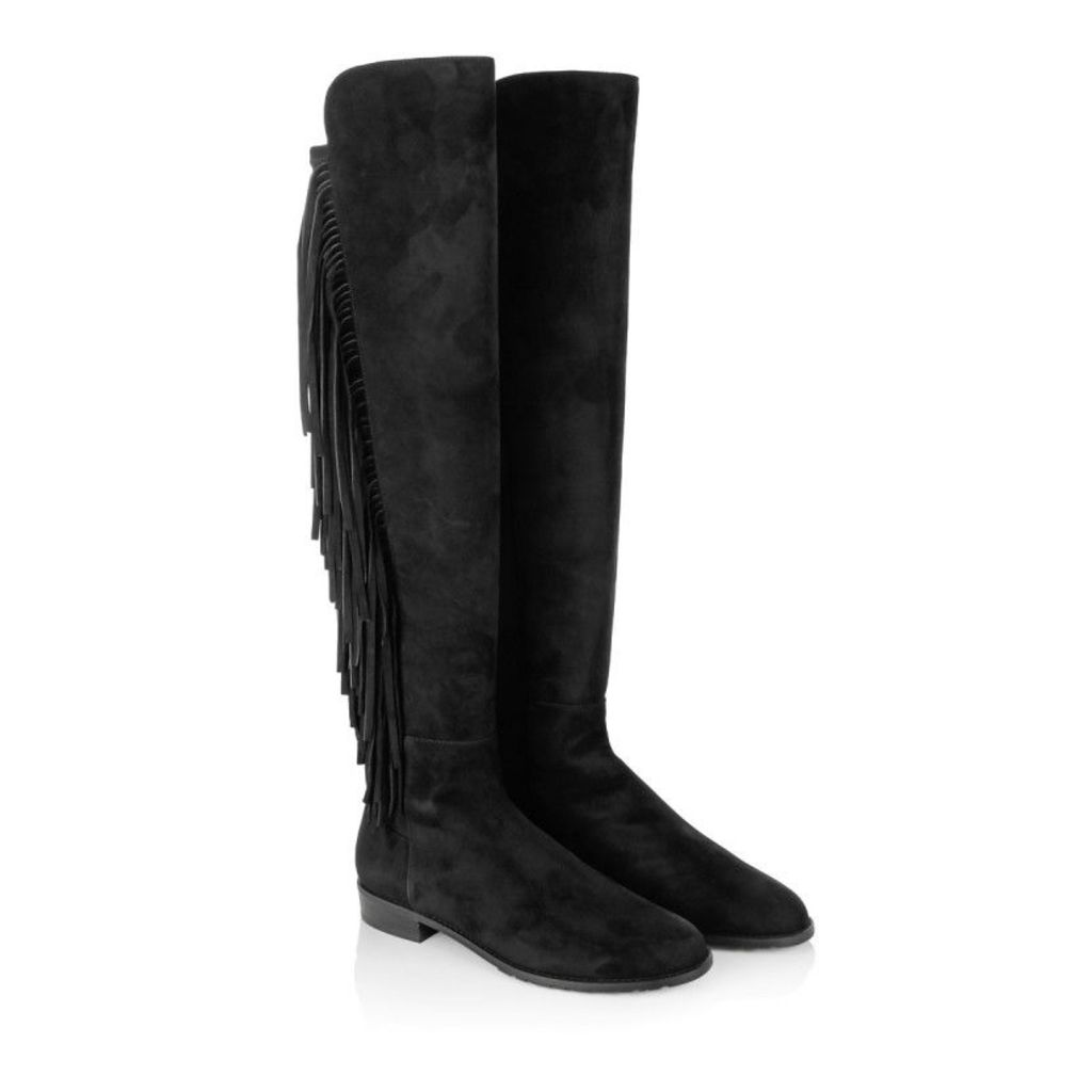 Stuart Weitzman Boots & Booties - Mane Suede Boots Black - in black - Boots & Booties for ladies