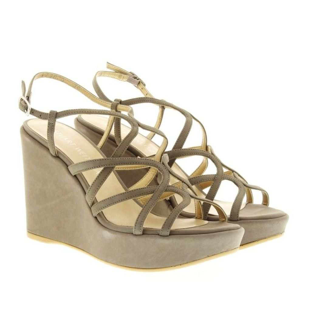 Stuart Weitzman Sandals - Turningup Sandal Stone Nubuc - in grey - Sandals for ladies