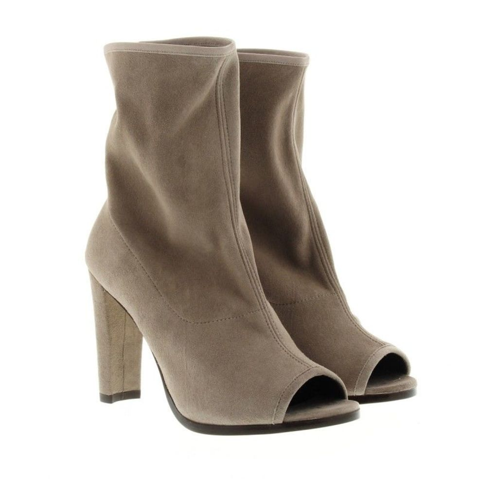 Stuart Weitzman Boots & Booties - Koko Peep Toe Bootie Topo Suede - in grey - Boots & Booties for ladies