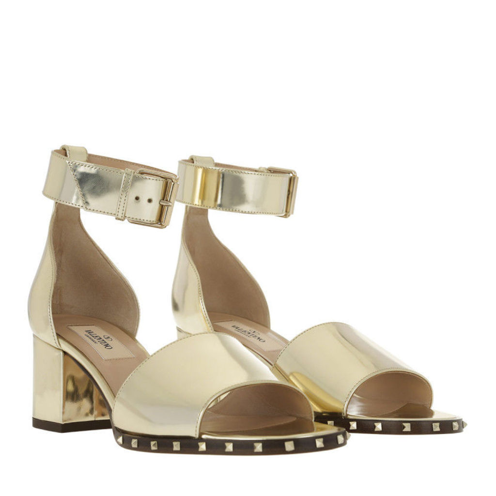 Valentino Sandals - Rockstud Soul Ankle Strap Sandal Platino - in gold - Sandals for ladies