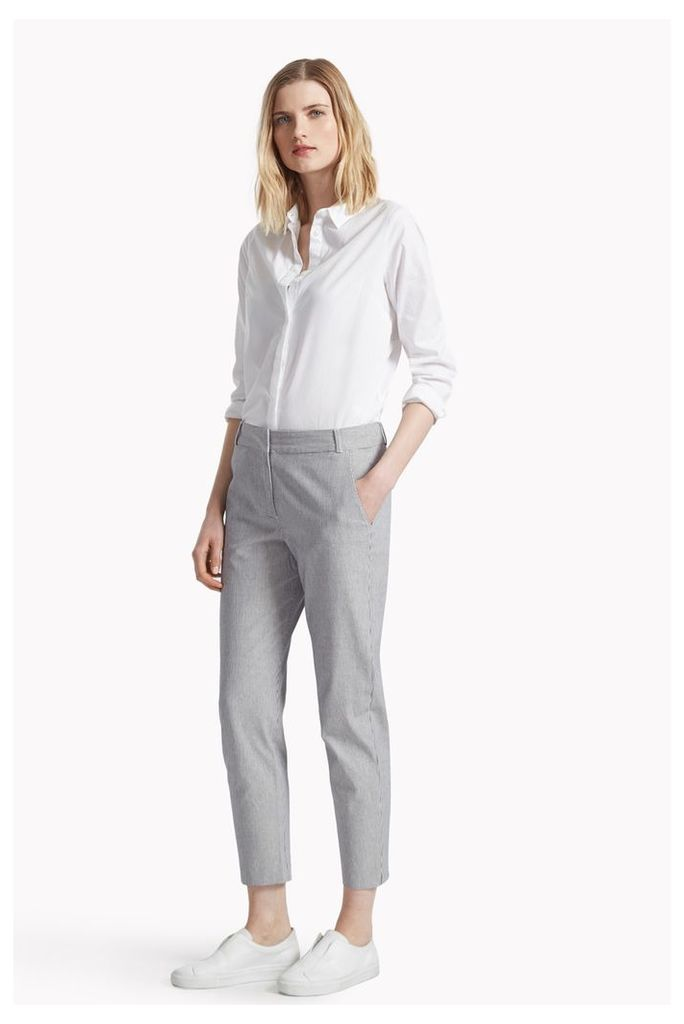 Padstow Stripe Stretch Cigarette Trousers