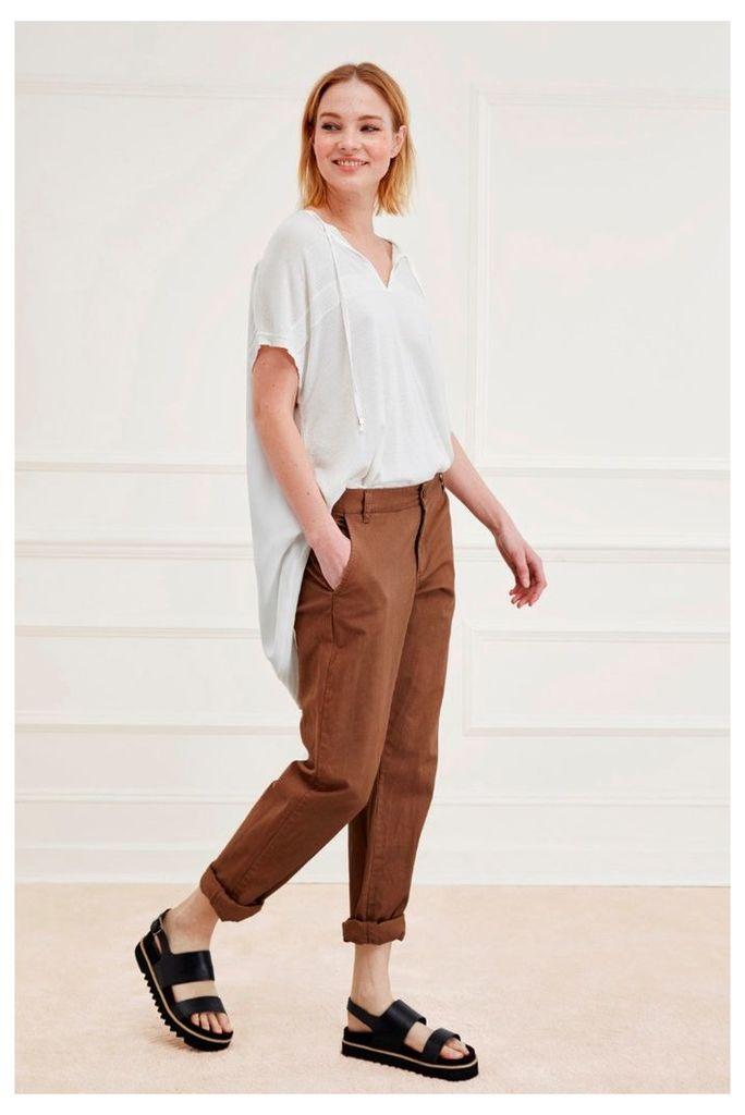 Safari Cotton Roll Up Trousers