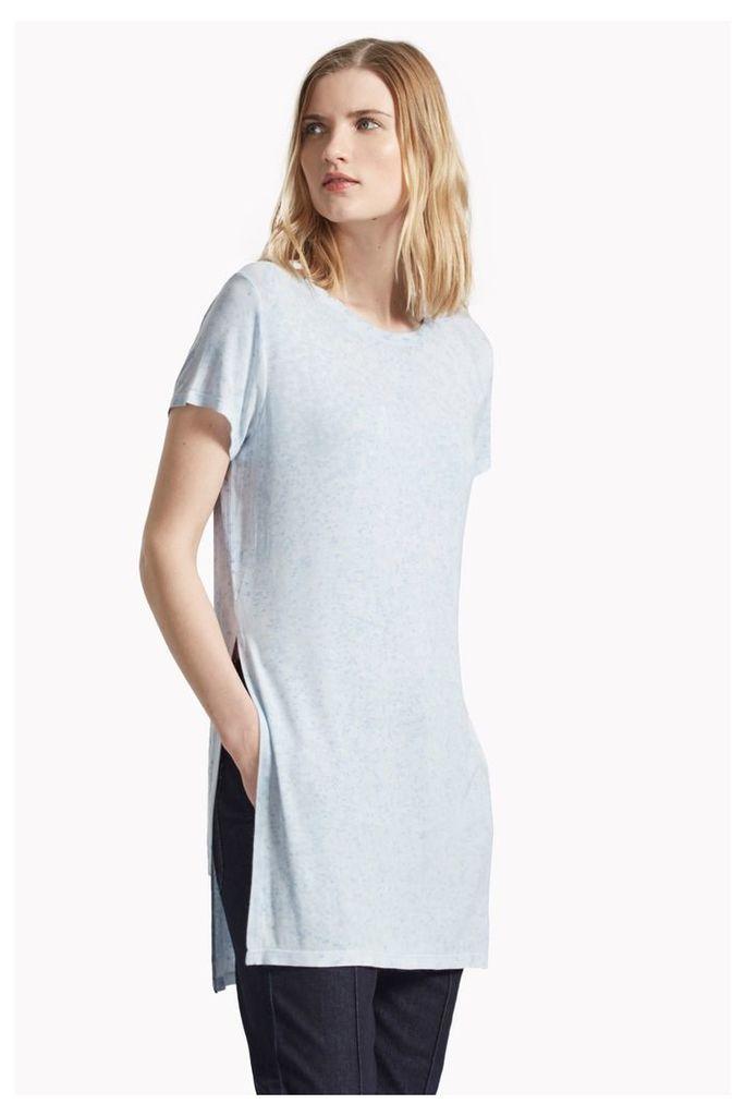 Marbled Classic Side Split T-Shirt