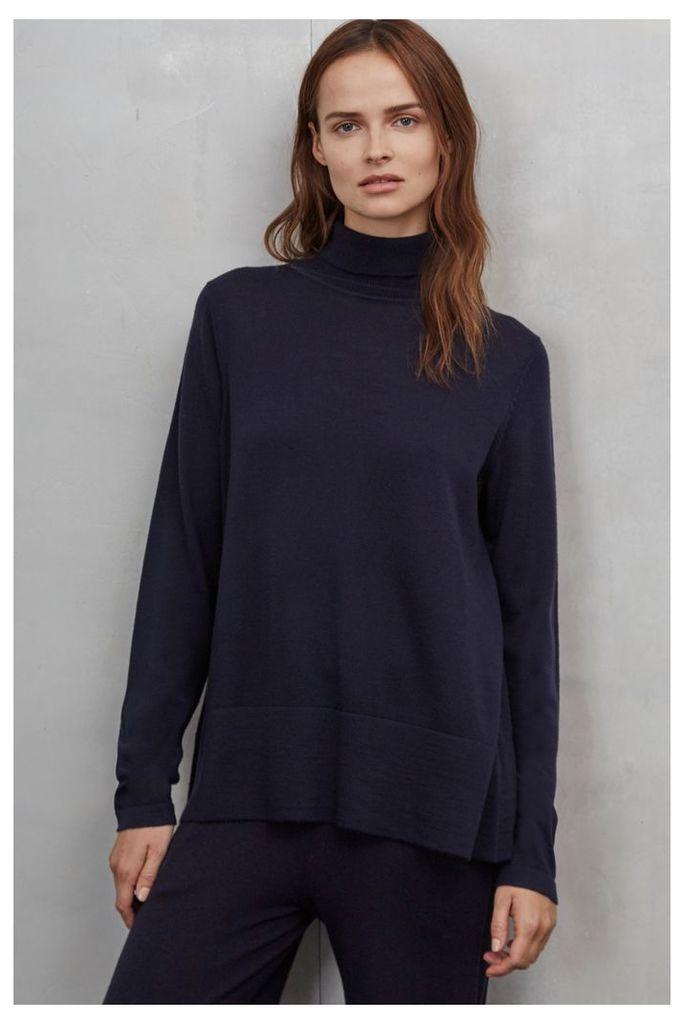 Amelia Merino Polo Neck Sweater