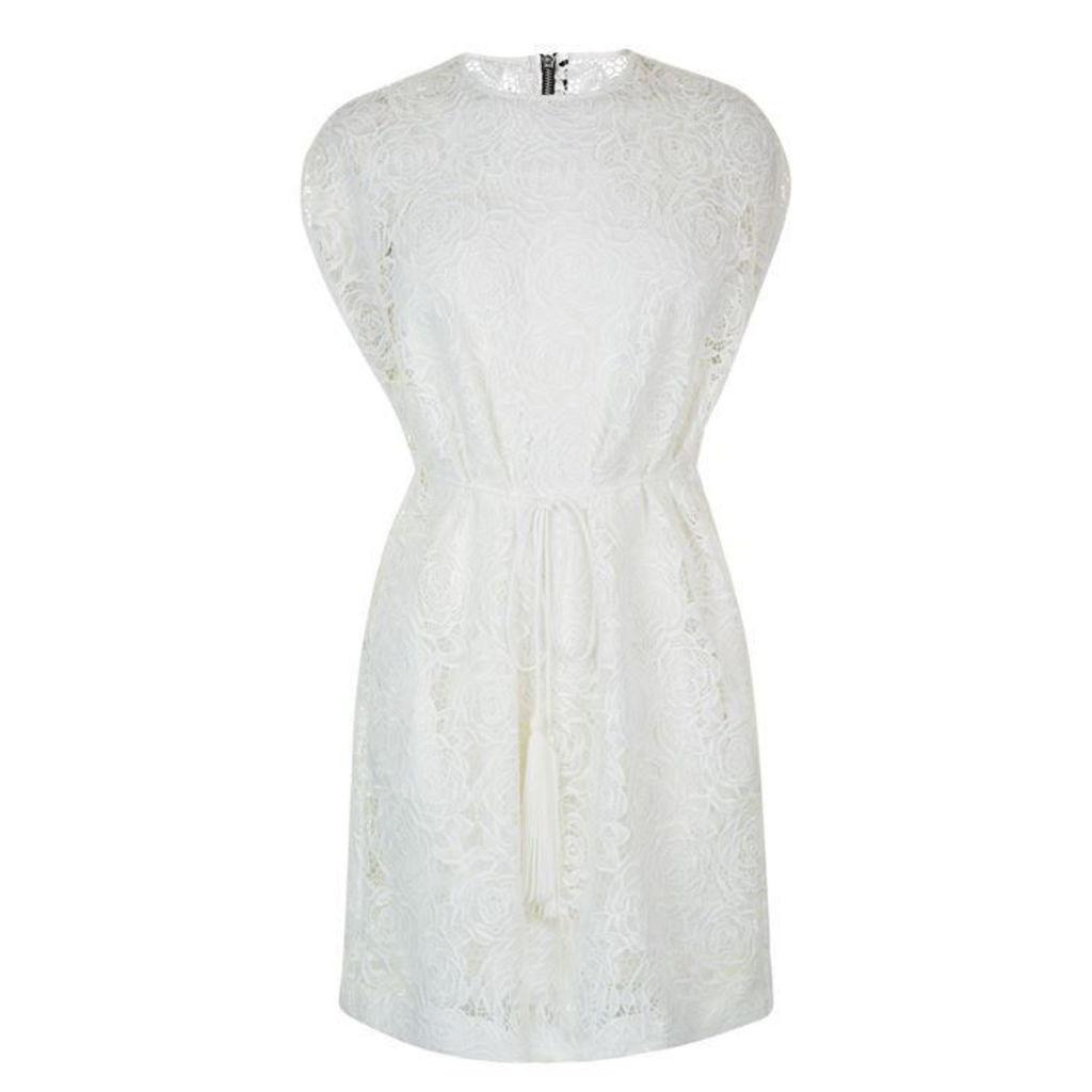 MCQ ALEXANDER MCQUEEN Lace Cape Dress