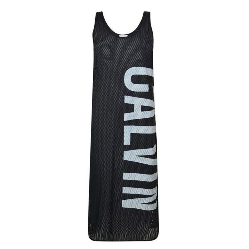 CALVIN KLEIN Mesh Beach Dress