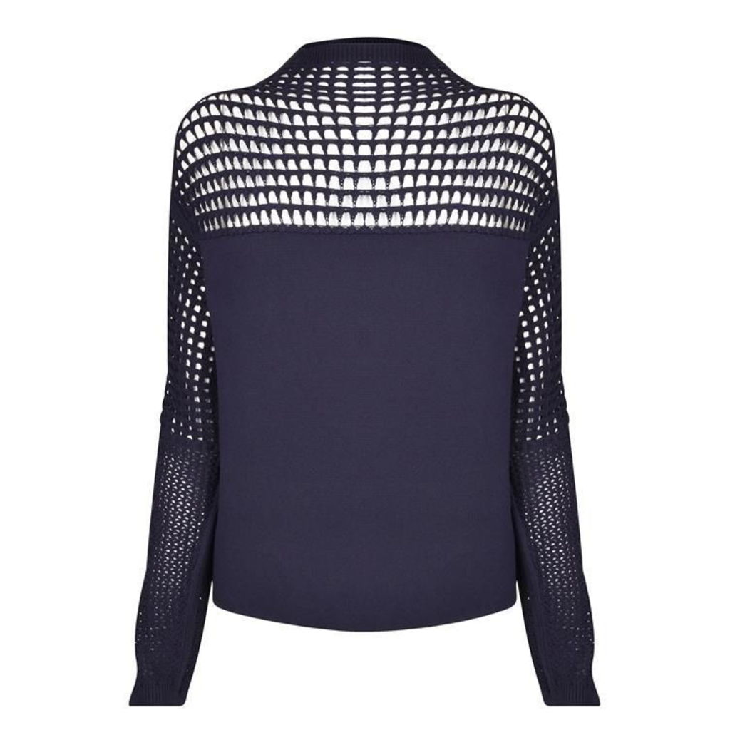 HELMUT LANG Micro Grid Knitted Jumper