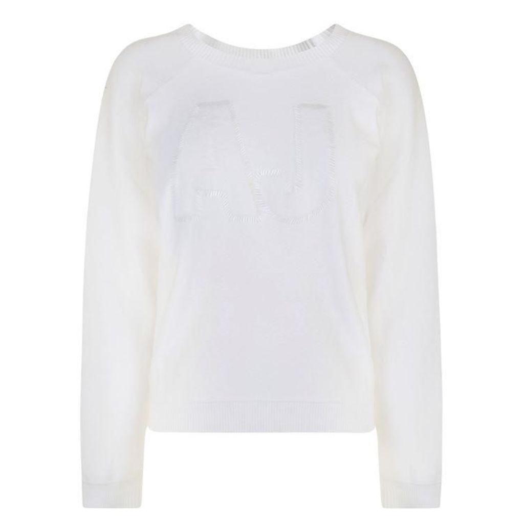 ARMANI JEANS Embellished Logo Sweatshirt