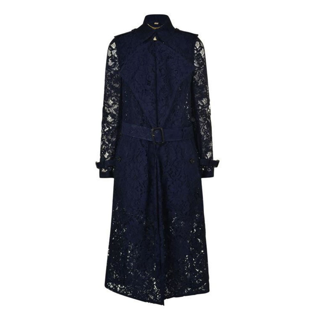 BURBERRY LONDON Gracehill Lace Trench Coat