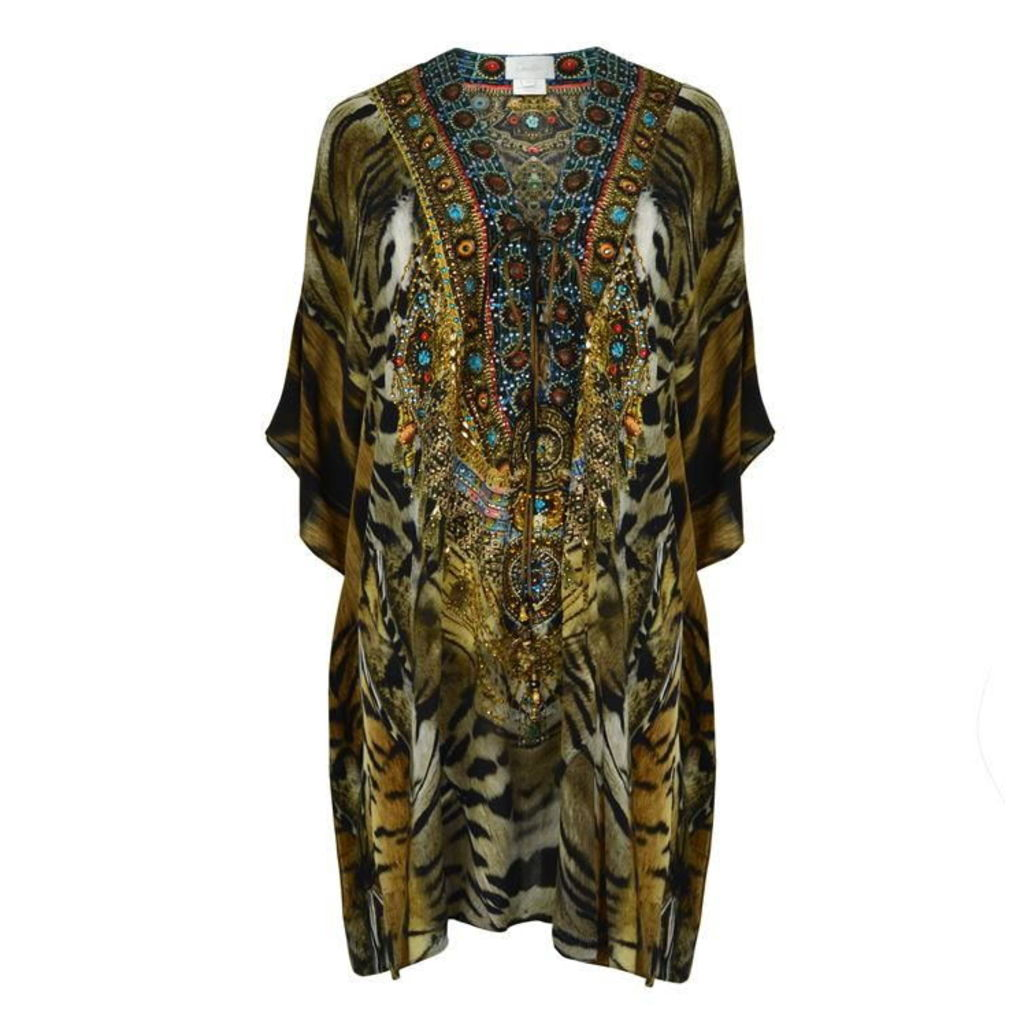 CAMILLA Printed Lace Up Kaftan