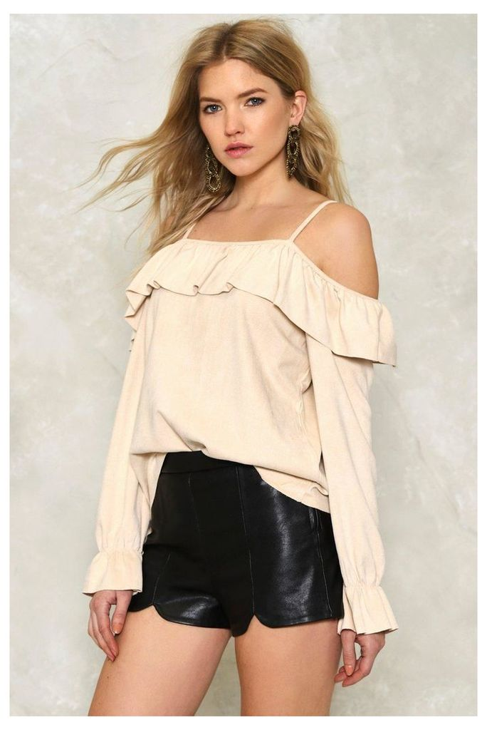 Erin Cold Shoulder Ruffle Top