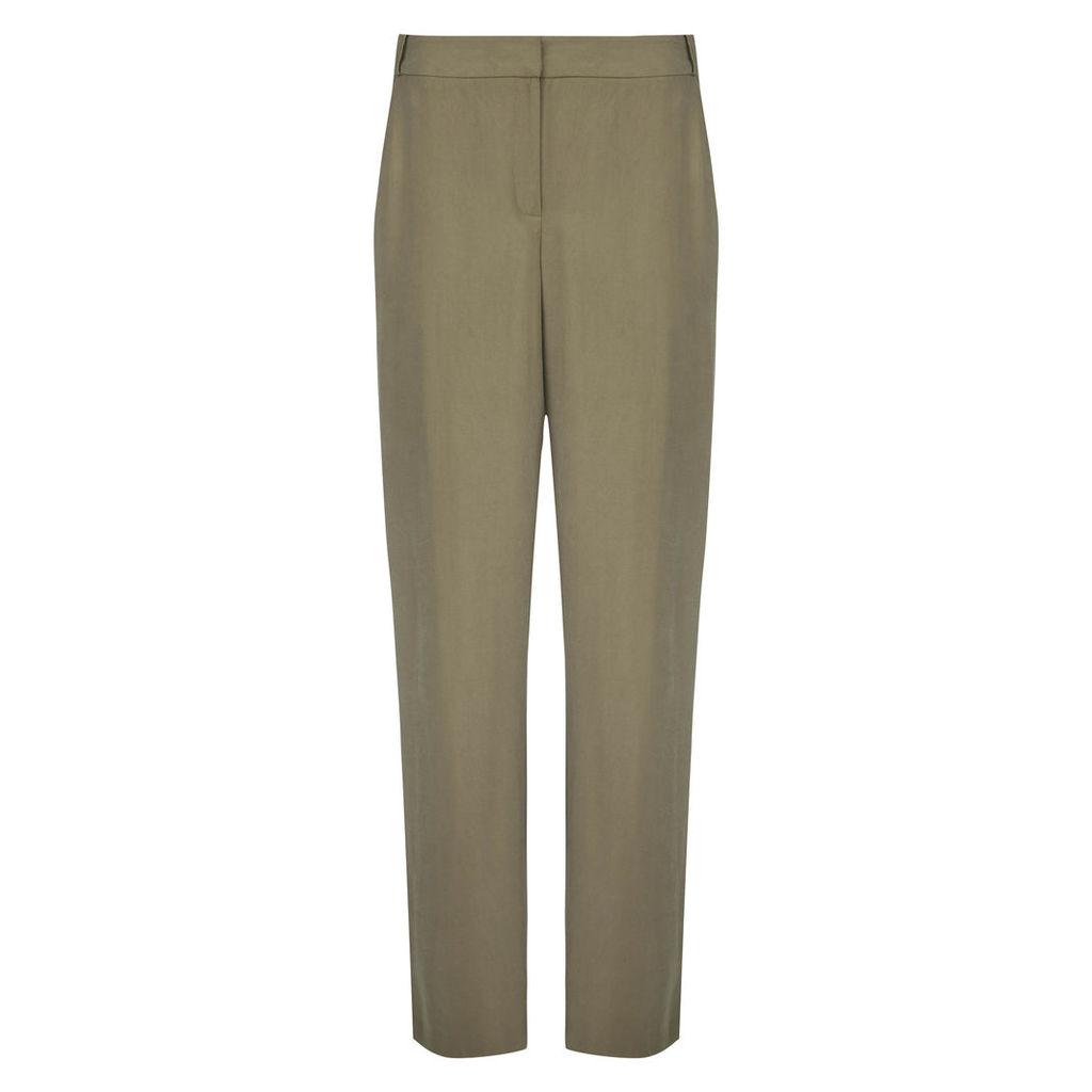 Khaki Soft Slim Leg Trousers