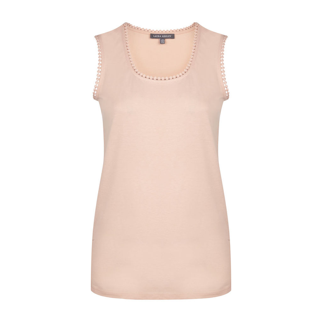Sleeveless Top with Trims