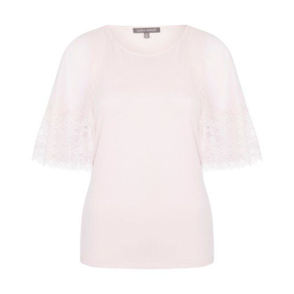 Pink Woven Sleeve Mix Top