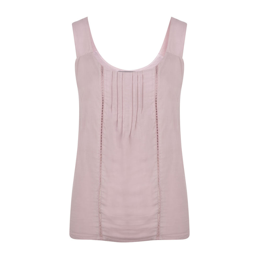 Sleeveless Woven Front Top