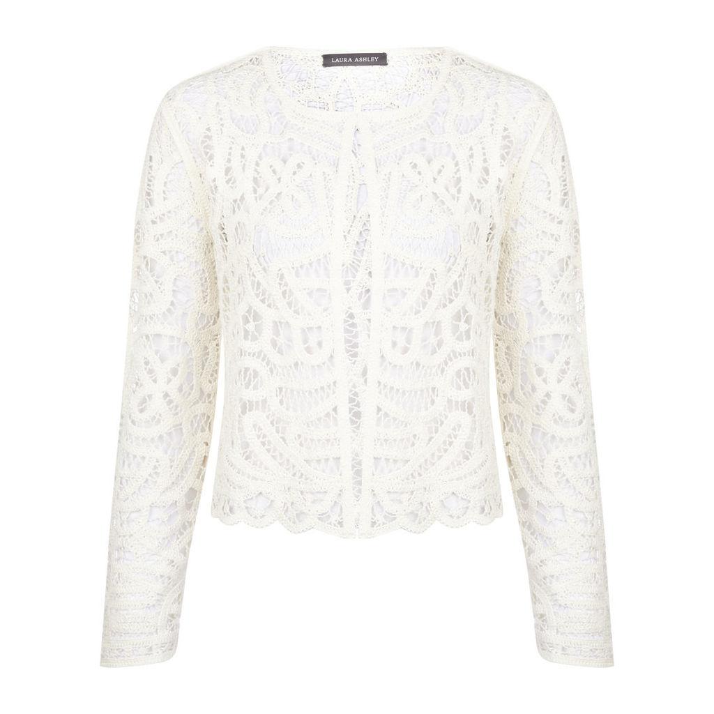 Long Sleeve Crochet Cardigan