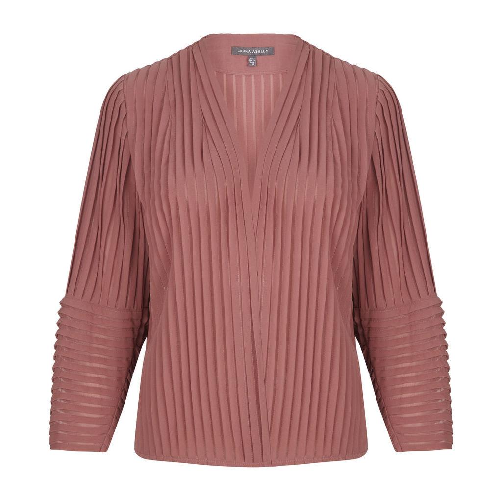 Dusky Pink Pleated Jacket