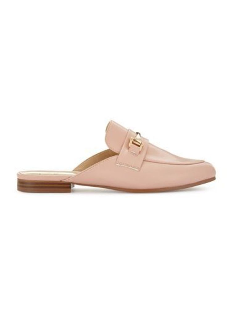 Womens ELENA Snaffle Backless Loafers, Nude